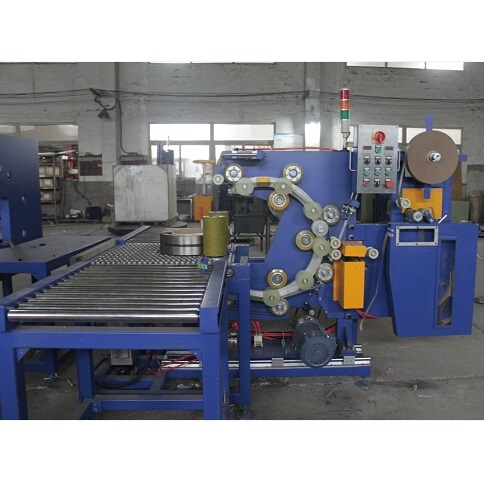 Horizontal bearing wrapping machine