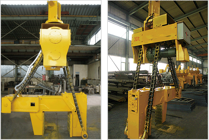 Electrical Steel Coils : Electric vertical horizontal steel coil clamp tilter