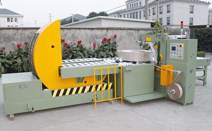 Coil tilter + Coil wrapping machine