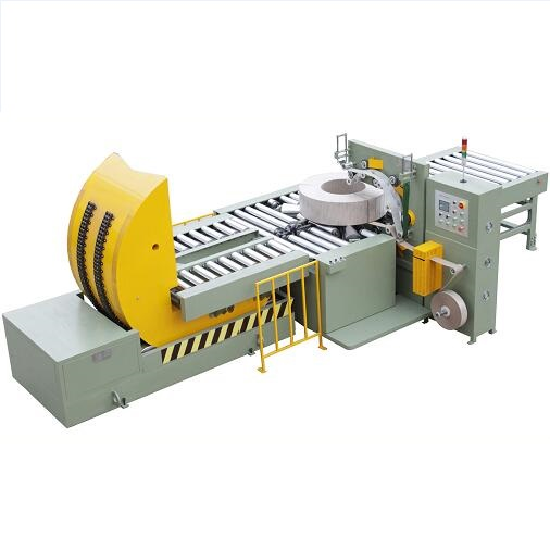 Mould upender match with wrapping machine to be an automatic packing system