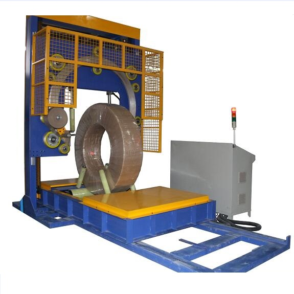 Steel wire coil wrapping machine GD800