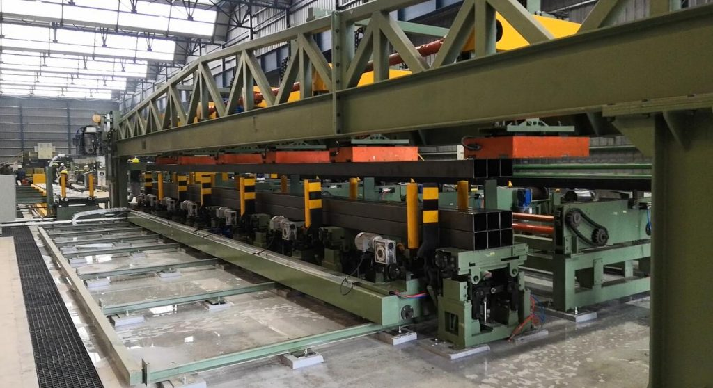rectangular steel pipe packing line