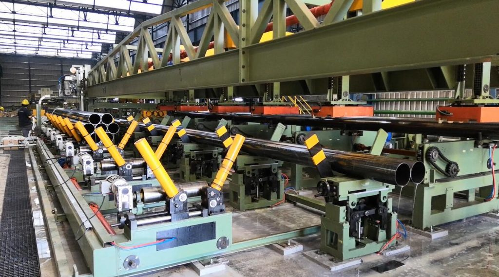 steel tube bundling packing line